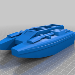 Download free 3D printer model Boat and Anti-Grav Tank, BigMillerBro
