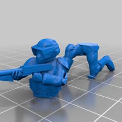 Descargar Modelos 3D para imprimir gratis Soldado de la Legión de Exploradores Clonados arrodillado, BigMillerBro