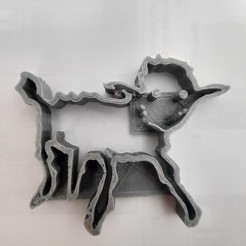 Download STL file Sheep of the little prince cookie cookie cutter, designrg