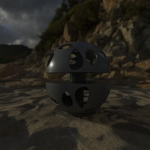 3D print model METEORITE LAMP L_DESIGN, E_L