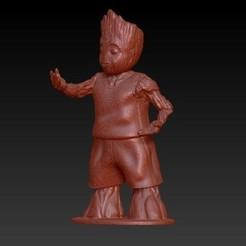 3D print files baby groot basket ball, alejandroguel87