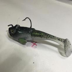 3D print model fishing Lure for Bass - swimbait, Strangebait