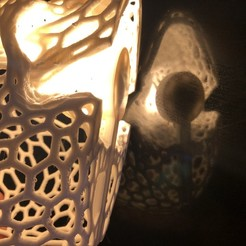 5ED53ABB-8686-4315-96EA-CF8B35398808.jpeg Download STL file Voronoi Skull Lamp IKEA Ledberg • 3D printable design, CB3DMAKER