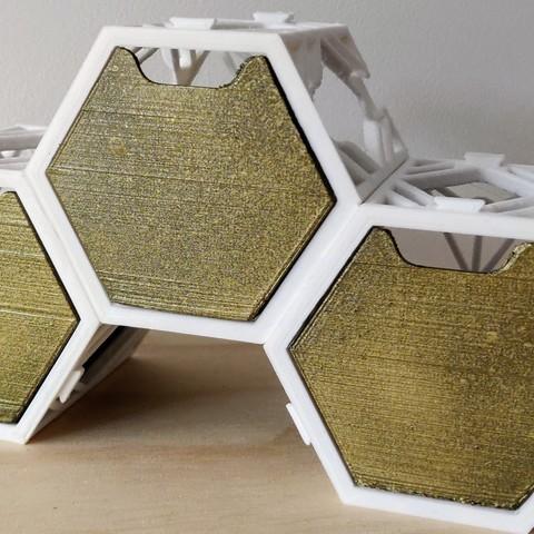 Télécharger plan imprimante 3D gatuit La Ruche Renaît - Stockage Hexagonal, CD_FER