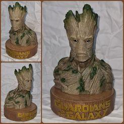 Download free STL file Groot Bust Sculpture • 3D printable design, yoceldran