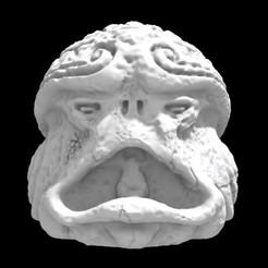 Olmecantli HeadToad 04.jpg Download STL file SAURIAN OLMECANTLI HEADTOAD 04 • 3D printer model, Ge32