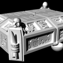 Saurian Altar of sacrifices 01.jpg Download free STL file Saurian Altar of sacrifices • Model to 3D print, Ge32
