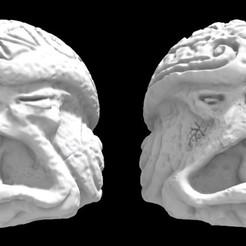 Olmecantli HeadToad B_x2.jpg Download STL file SAURIAN OLMECANTLI HEADTOAD - (B x2) • 3D printing design, Ge32