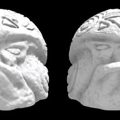 Olmecantli HeadToad A_x2.jpg Download STL file SAURIAN OLMECANTLI HEADTOAD - (A x2) • 3D printer design, Ge32