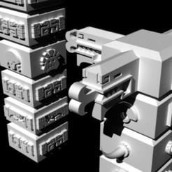 totems Ge32.jpg Download free STL file Saurian Totems • 3D printer template, Ge32