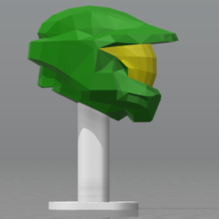 Descargar Modelos 3D para imprimir gratis Casco - Master chief halo 2 - low poly, hiddenart8