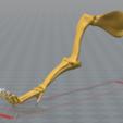 pata delantera.PNG Télécharger fichier STL gratuit Squelette de chien - (Squelette de chien) • Design imprimable en 3D, hiddenart8