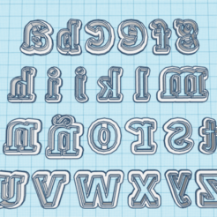 Download free 3D printing files Lowercase Letter Cutter, hiddenart8
