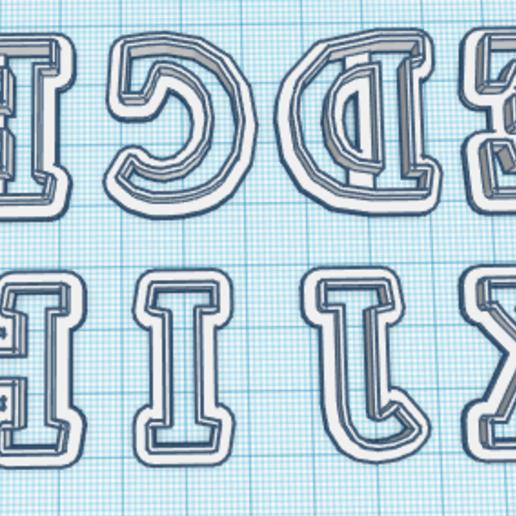 Télécharger objet 3D gratuit Coupe lettres majuscules A - L, hiddenart8