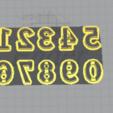 Télécharger plan imprimante 3D gatuit Coupeur de numéros, hiddenart8