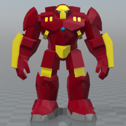 Download STL file hulkbuster-low poly • Model to 3D print, hiddenart8