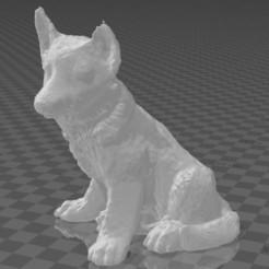 1.JPG Télécharger fichier STL gratuit Chien - Chien de berger allemand • Plan pour imprimante 3D, hiddenart8