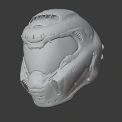 Download OBJ file Doom helmet • 3D print template, hiddenart8