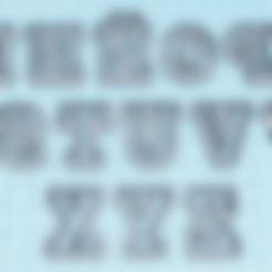 Télécharger plan imprimante 3D gatuit Coupe-lettres majuscules M - Z, hiddenart8