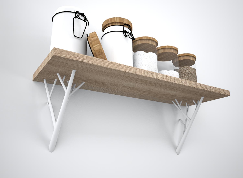 Clément dilé 3.png Télécharger fichier STL gratuit Shelf branch • Modèle pour impression 3D, dileclem