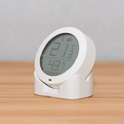 DSC_7401.jpg Download free STL file Xiaomi Mijia Thermometer / Hygrometer stand • 3D printer object, Malolo