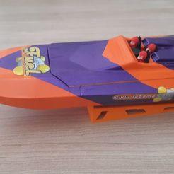 STL file model boat rc fast speedboat, romulot265