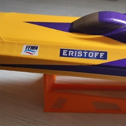 Download 3D printing designs model boat rc fast speedboat, romulot265