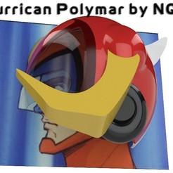 Download free 3D printing designs Hurrican Polymar MANGA helmet, Caghon3d