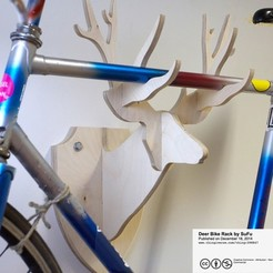 Download free 3D printing models Deer Bike Rack, Caghon3d