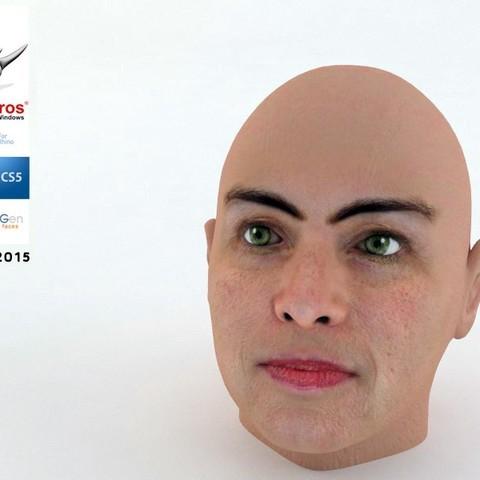 Télécharger modèle 3D gratuit Tête de femme par NQT2015, Caghon3d