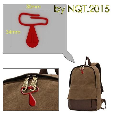 Plan imprimante 3D gatuit Zips de fermeture pour l'amarrage du sac à dos par NQT.2015, Caghon3d