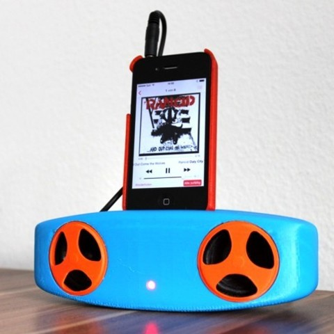 Free 3D printer files smartphone mp3 speaker, Caghon3d