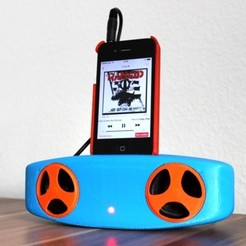 Free 3D printer files smartphone mp3 speaker, Caghon3d