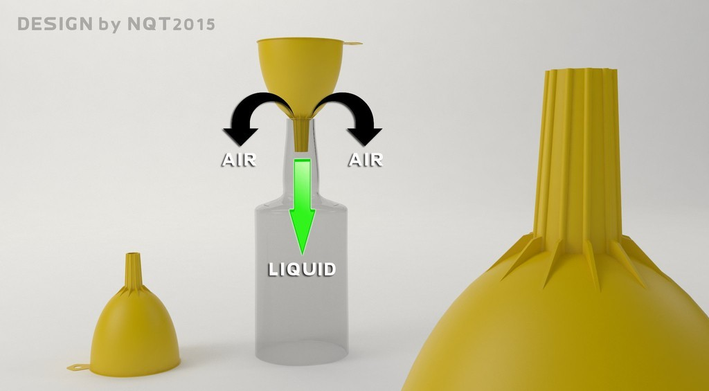 Funnel_preview_display_large.jpg Download free STL file Speedy Funnel 2015 • 3D printable object, Caghon3d