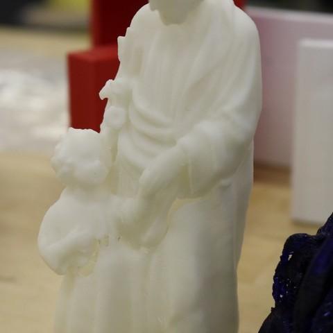 Free 3D print files Scan of 19th century St. Joseph Statue, Boastcott
