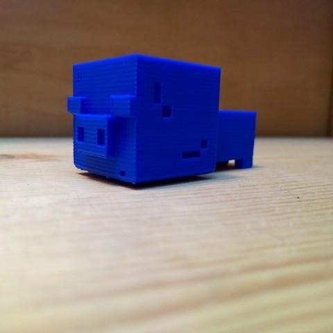 Free 3D printer designs Minecraft Baby Pig, Boastcott