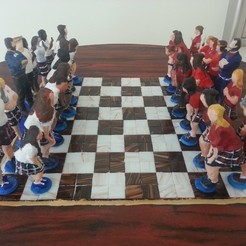 Free 3D print files Academy Chess Set, Boastcott