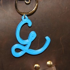 Free 3D printer model Super Simple Initial Keychains, Boastcott