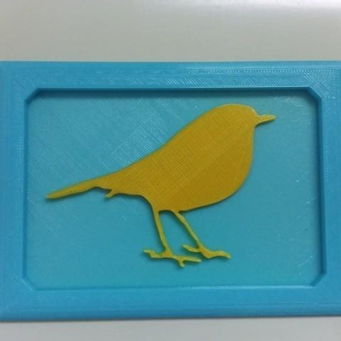 Imprimir en 3D gratis Decoración de pájaros, FowlvidBastien