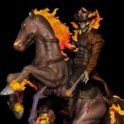 cavaleiro.jpg Download STL file Carter Slade  Ghost Rider • 3D print design, Phantoshe