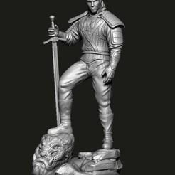 Download STL The Witcher Geralti de Rivia, Phantoshe