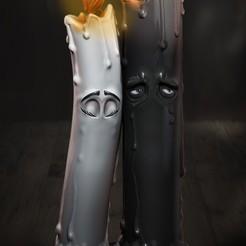 Untitled-1.jpg Download STL file Candles Love • 3D printer object, Phantoshe