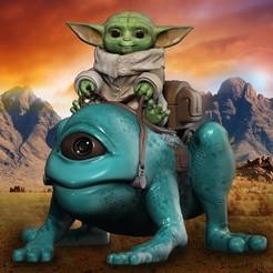 001aaaa.jpeg Download STL file Baby Yoda • 3D printer template, Phantoshe