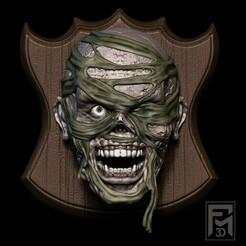 mumia 2.jpg Télécharger fichier STL Deuxième paquet de têtes d'Halloween, des ornements à offrir aux amis. • Modèle pour impression 3D, Phantoshe