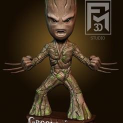 gROOT.jpg Download STL file Baby Groot (Grooverine) • 3D printer design, Phantoshe