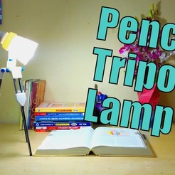 Free 3D printer files Pencil Tripod LED Lamp, Azgardinho