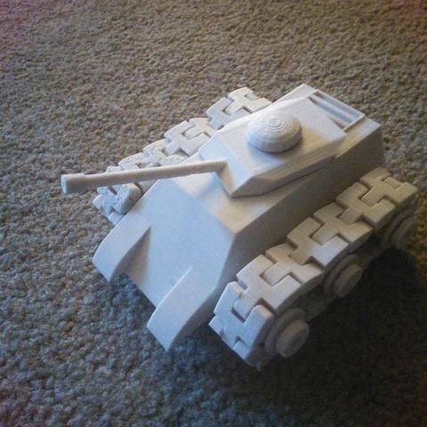 Download free 3D printing templates tank, Azgardinho