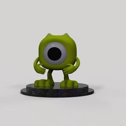 Télécharger fichier OBJ gratuit Mike Wazowski • Design pour imprimante 3D, arthurjdb