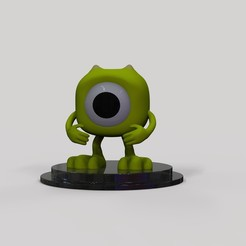 Télécharger objet 3D gratuit Mike Wazowski, arthurjdb