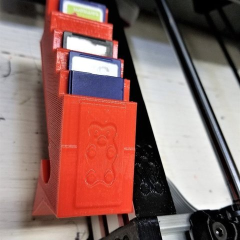 Download free 3D printer designs Bear SD card holder, jimjax